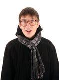 Έκπληκτος νεαρός άνδρας Στοκ εικόνα με δικαίωμα ελεύθερης χρήσης