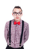 Έκπληκτος nerd στοκ φωτογραφία