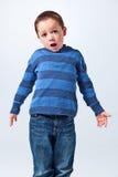 Έκπληκτο αστείο μικρό παιδί στοκ εικόνα με δικαίωμα ελεύθερης χρήσης