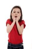 Έκπληκτο μικρό κορίτσι Στοκ φωτογραφία με δικαίωμα ελεύθερης χρήσης