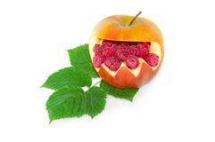 Έκπληξη σμέουρων στο μήλο στοκ εικόνα