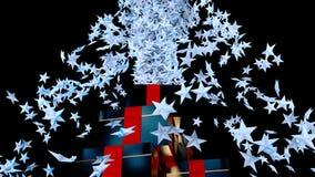 Έκρηξη αστεριών Χριστουγέννων για ένα ειδικό κόμμα Απεικόνιση αποθεμάτων