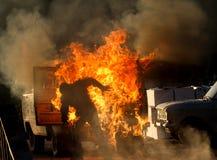 Έκρηξη αυτοκινήτων σε μια επίδειξη Στοκ Φωτογραφίες