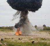 Έκρηξη αυτοκινήτων Στοκ εικόνες με δικαίωμα ελεύθερης χρήσης