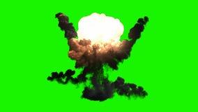 Έκρηξη βομβών Chromakey με τον καπνό ελεύθερη απεικόνιση δικαιώματος