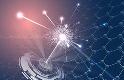 Έκρηξη ενός μοριακού μορίου Στοκ εικόνες με δικαίωμα ελεύθερης χρήσης