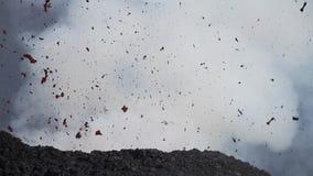 Έκρηξη ηφαιστείων απόθεμα βίντεο