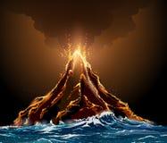 έκρηξη ηφαιστειακή διανυσματική απεικόνιση