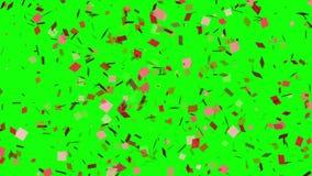 Έκρηξη κομφετί σε ένα πράσινο υπόβαθρο διανυσματική απεικόνιση