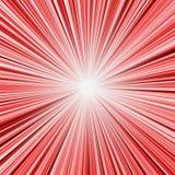 Έκρηξη κόκκινου φωτός διανυσματική απεικόνιση
