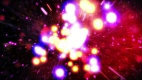 Έκρηξη μορίων απόθεμα βίντεο