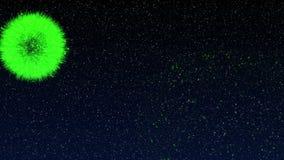 Έκρηξη πυροτεχνημάτων, ιδανικό μήκους σε πόδηα 4k για το νέο έτος διανυσματική απεικόνιση