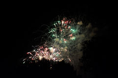 Έκρηξη πυροτεχνημάτων Στοκ φωτογραφίες με δικαίωμα ελεύθερης χρήσης