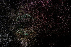 Έκρηξη πυροτεχνημάτων Στοκ Φωτογραφίες