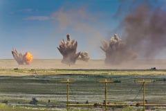 Έκρηξη σε ένα έδαφος στρατιωτικής εκπαίδευσης Στοκ εικόνες με δικαίωμα ελεύθερης χρήσης