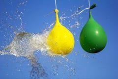 Έκρηξη του συνόλου μπαλονιών του νερού στοκ φωτογραφία