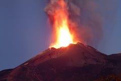Έκρηξη Etna 26-10-2013 Στοκ Φωτογραφίες