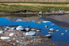 Έκταση της λίμνης bulun-Kul Τατζικιστάν τονισμένος Στοκ Εικόνες