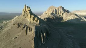 Έκταση του copter άσπρα βουνά Mangystau Καζακστάν φιλμ μικρού μήκους