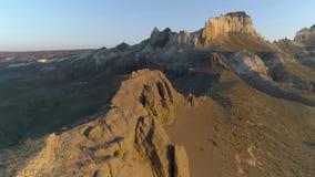 Έκταση του copter Βουνά του Καζακστάν απόθεμα βίντεο