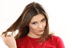 Έκφραση της έκπληξης σε ένα πρόσωπο της νέας γυναίκας στοκ φωτογραφία με δικαίωμα ελεύθερης χρήσης
