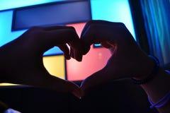 Έκφραση της αρχειοθέτησης της καρδιάς μου με τα χρώματα Στοκ Εικόνες