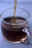 έκχυση καφέ Στοκ Εικόνα