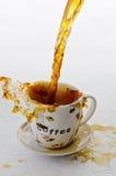 έκχυση καφέ Στοκ Εικόνες
