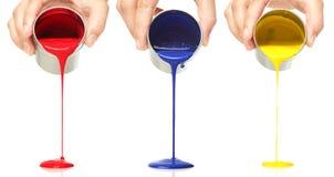 έκχυση χρωμάτων Στοκ εικόνες με δικαίωμα ελεύθερης χρήσης