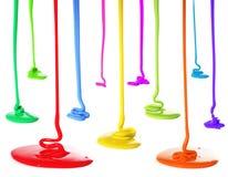 έκχυση χρωμάτων Στοκ Εικόνες