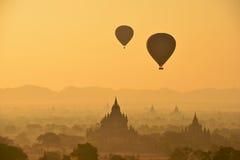 Έκλειψη σε Bagan  Στοκ Φωτογραφίες