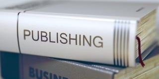 Έκδοση - τίτλος επιχειρησιακών βιβλίων τρισδιάστατος Στοκ Φωτογραφίες
