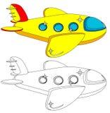 Έκδοση χρώματος και περιλήψεων των αεροσκαφών διάνυσμα Στοκ φωτογραφίες με δικαίωμα ελεύθερης χρήσης