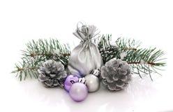 έλατο Χριστουγέννων σφαι Στοκ φωτογραφία με δικαίωμα ελεύθερης χρήσης