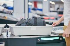 Έλεγχος ασφαλείας αεροδρομίου στοκ φωτογραφία με δικαίωμα ελεύθερης χρήσης