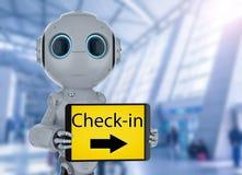 Έλεγχος αυτοματοποίησης στο ρομπότ στοκ φωτογραφία με δικαίωμα ελεύθερης χρήσης