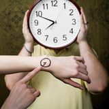 έλεγχος του χρόνου Στοκ Εικόνες