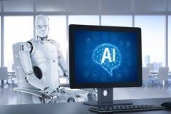 Έλεγχος AI υπολογιστών διανυσματική απεικόνιση