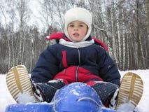 έλκηθρο αγοριών Στοκ φωτογραφίες με δικαίωμα ελεύθερης χρήσης