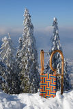 έλκηθρο βουνών Στοκ Εικόνα