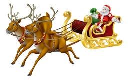 Έλκηθρο Χριστουγέννων απεικόνιση αποθεμάτων