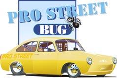 έλξη αυτοκινήτων κίτρινη διανυσματική απεικόνιση