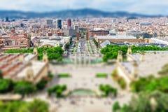 Έλξη της Βαρκελώνης, Plaza de Espana, Καταλωνία, Ισπανία Στοκ φωτογραφία με δικαίωμα ελεύθερης χρήσης