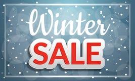 Έμβλημα έννοιας χειμερινής πώλησης, ύφος κινούμενων σχεδίων απεικόνιση αποθεμάτων