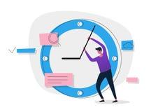 Έμβλημα έννοιας χρονικής διαχείρισης Χρήση για το έμβλημα Ιστού, infographics, εικόνες ηρώων Στοκ Εικόνες