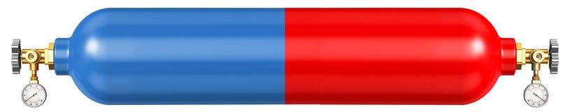 Έμβλημα για την περιοχή για την πώληση του οξυγόνου και του προπανίου Στοκ φωτογραφία με δικαίωμα ελεύθερης χρήσης
