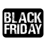 Έμβλημα για τις πωλήσεις τη μαύρη Παρασκευή στοκ εικόνες με δικαίωμα ελεύθερης χρήσης