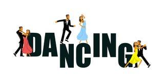 Έμβλημα για το στούντιο χορού διανυσματική απεικόνιση