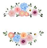 Έμβλημα διακοσμήσεων λουλουδιών στοκ εικόνες με δικαίωμα ελεύθερης χρήσης