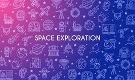 Έμβλημα εξερεύνησης του διαστήματος Στοκ Εικόνες
